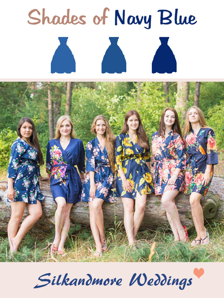 Assorted Navy Blues   SilkandMore Robes