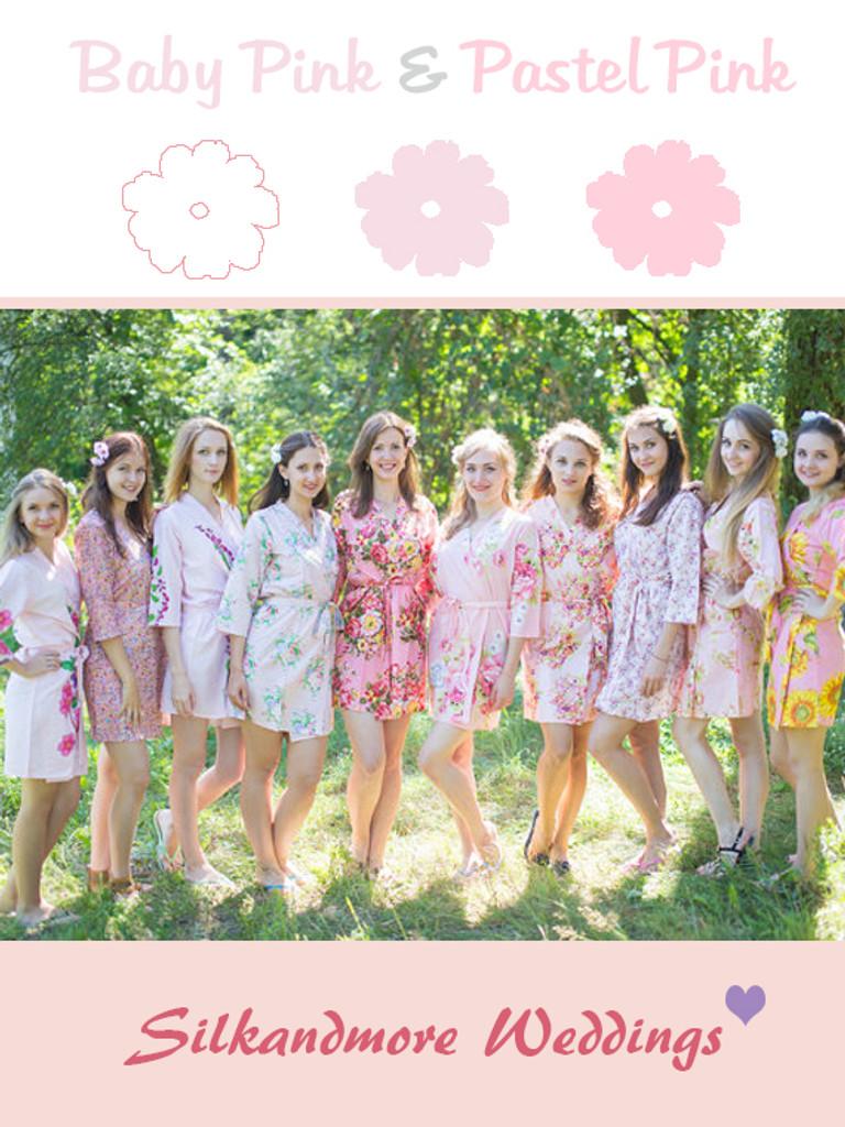 Assorted Soft Pinks   SilkandMore Robes