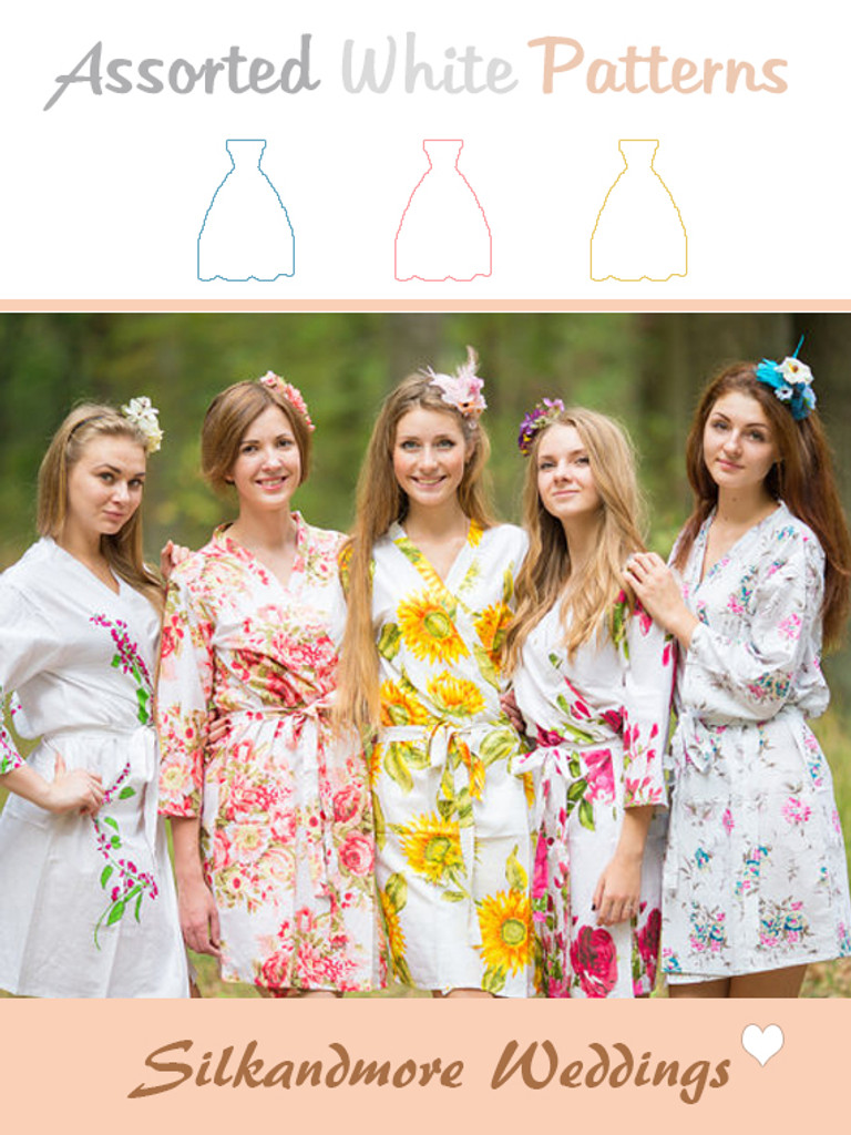 Assorted Whites | SilkandMore Robes