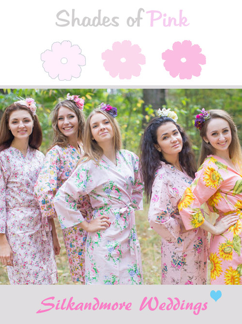 Mismatched Baby Pink Robes