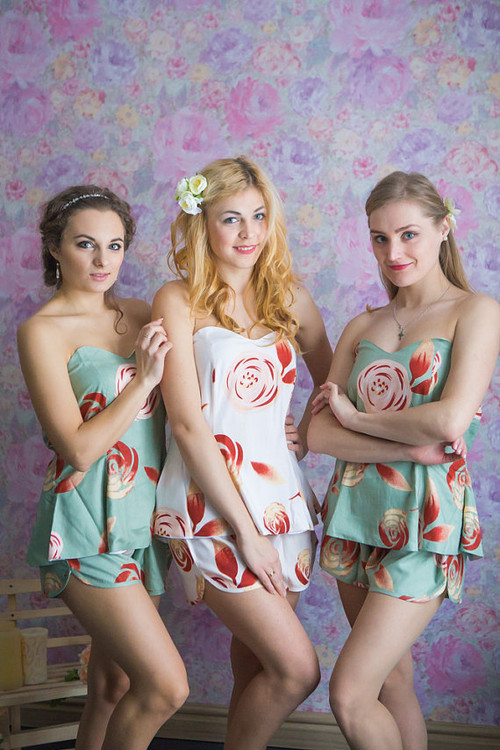 Strapless Style PJs in a rumor among fairies Pattern