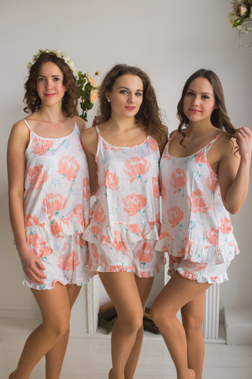 Frilly Style PJs in Blushing Flowers Pattern