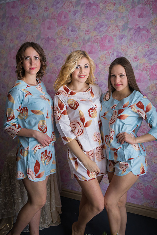 Boat Neckline Style PJs in a rumor among fairies Pattern
