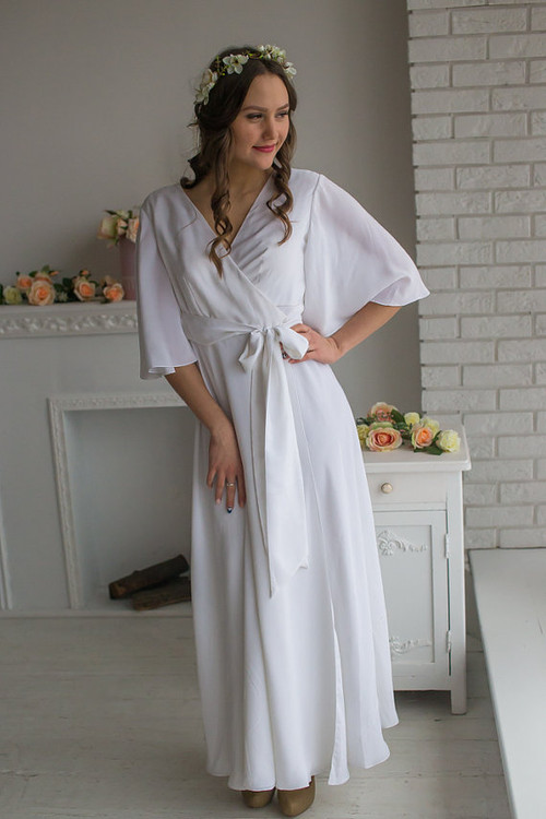 All White Bridal Robe from my Paris Inspirations Collection - Graceland in White