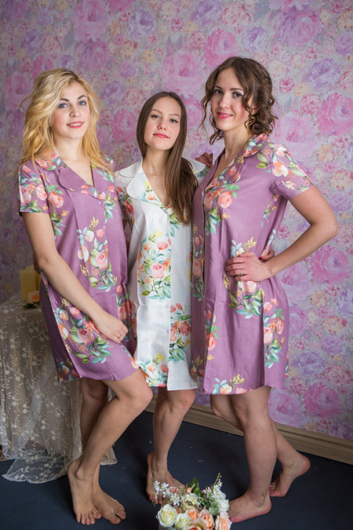 Dreamy Angel Song Pattern Bridesmaids Button down Shirts