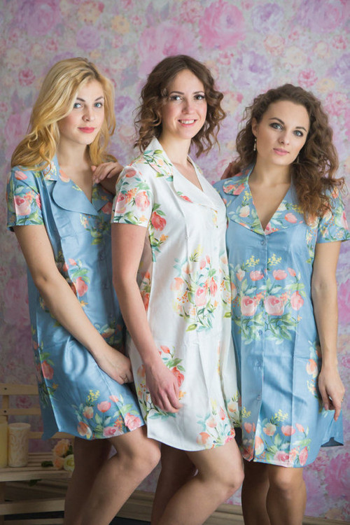 Dreamy Angel Song Pattern Bridesmaids Getting Ready Shirts