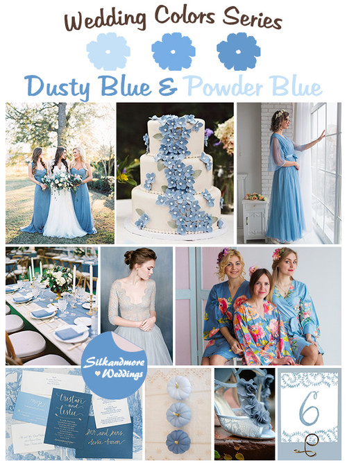 Dusty Blue and Powder Blue Wedding Color Palette
