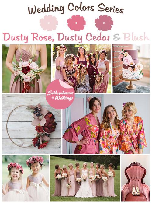Rose, Dusty Cedar and Blush Wedding Color Palette