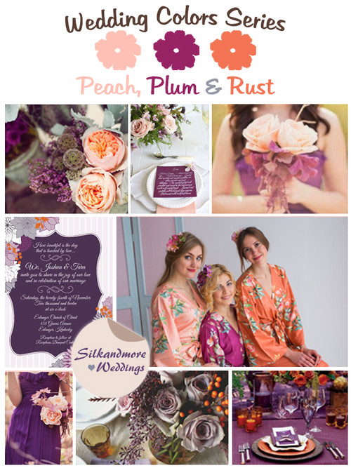 Peach, Plum and Rust Wedding Color Palette