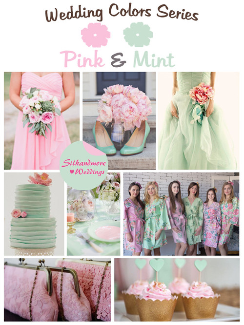 Pink and Mint Wedding Color Palette