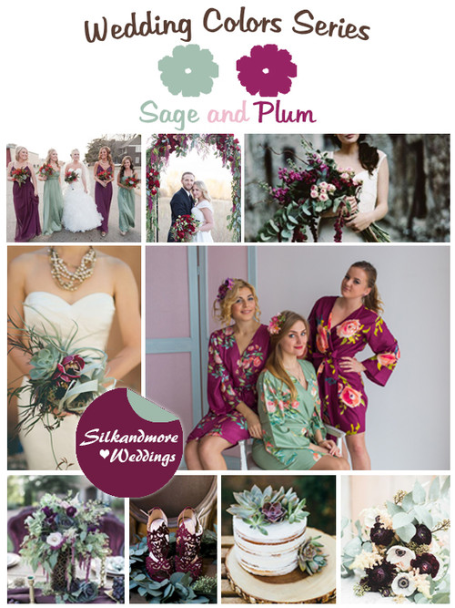 Sage and Plum Wedding Color Palette