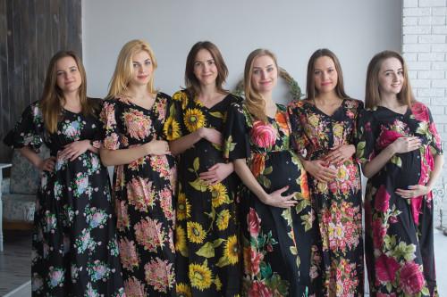 Black Floral Caftans