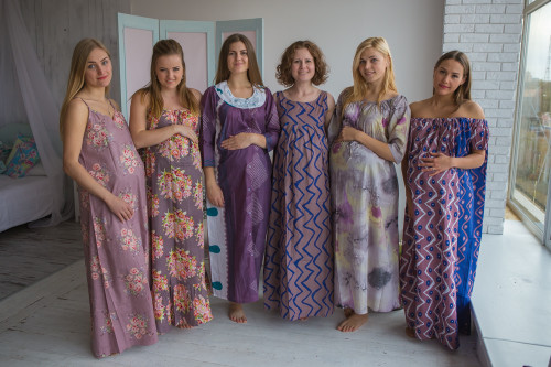 Mommies in Mauve Night Gowns