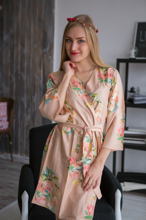 Dreamy Angel Song Pattern- Premium Dusty Rose Bridesmaids Robes