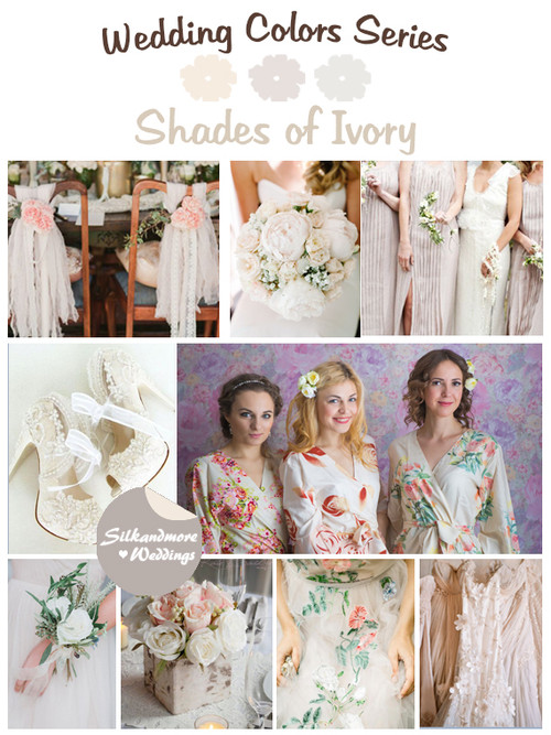 Shades of Ivory Wedding Color Palette