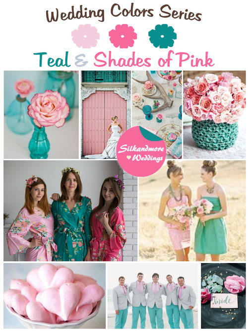 Teal and Shades of Pink Wedding Color Palette