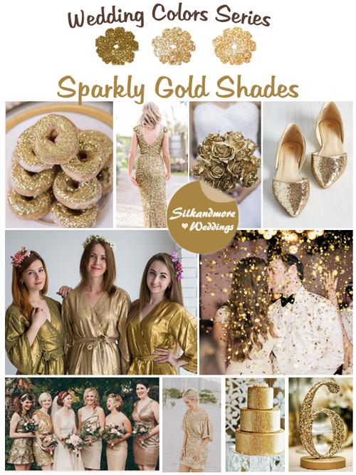 Sparkly Gold Shades Wedding Color Palette
