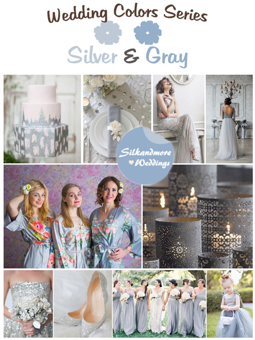 Silver and Gray Wedding Color Palette