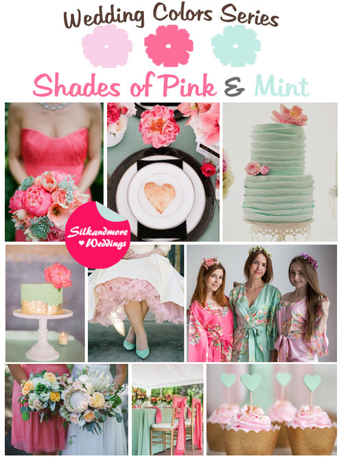 Shades of Pink and Mint Wedding Color Palette