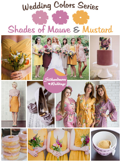 Shades of Mauve and Mustard Wedding Color Palette