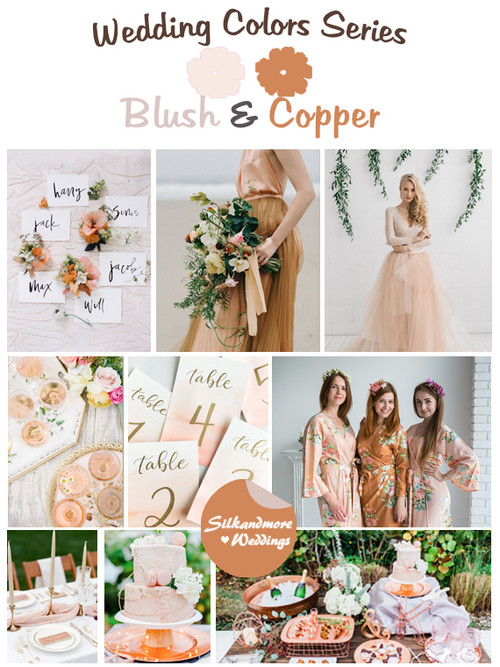 Blush and Copper Wedding Color Palette