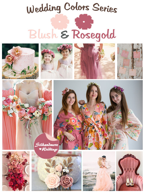 Blush and Rosegold Wedding Color
