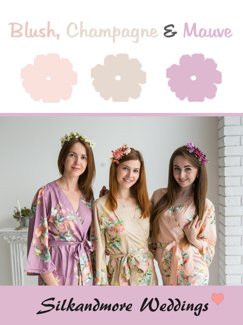 Blush, Champagne and Mauve Color Robes - Premium Rayon Collection