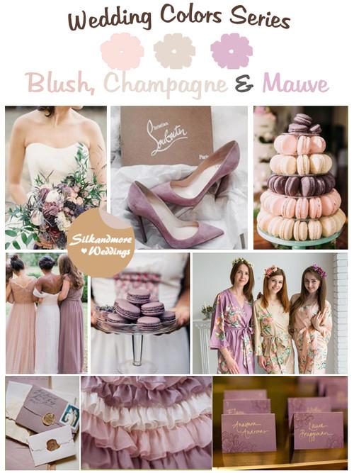 Blush, Champagne and Mauve Wedding Color Palette