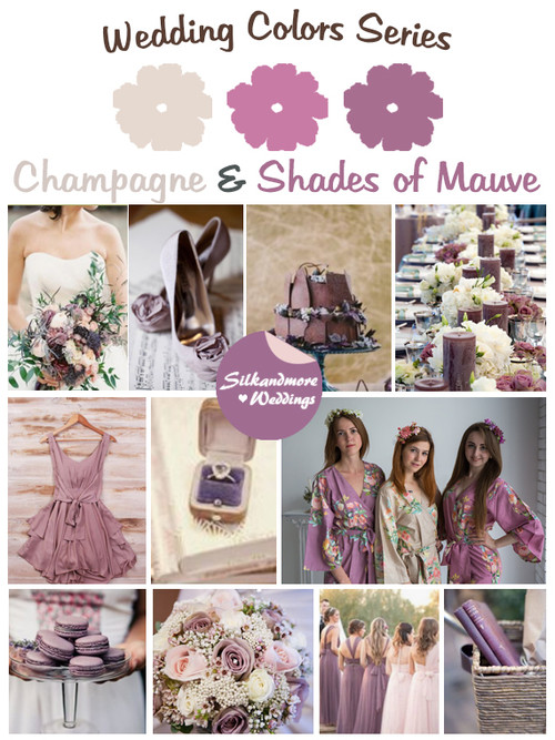 Champagne and Shades of Mauve Wedding Color Palette