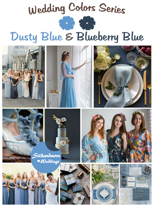 Dusty Blue and Blueberry Blue Wedding Color Palette