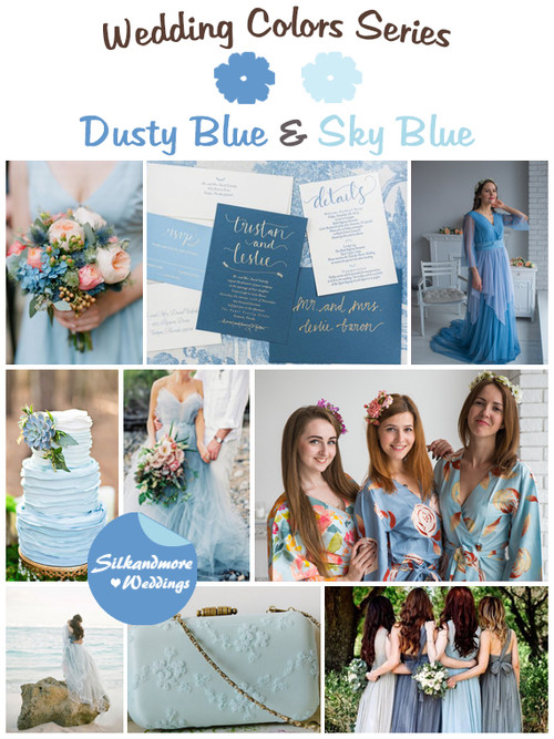 Dusty Blue and Sky Blue Wedding Color Palette