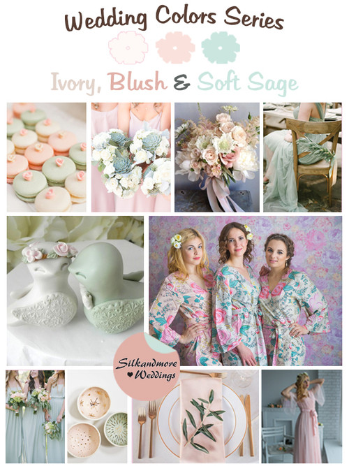 Ivory, Blush and Soft Sage Wedding Color Palette