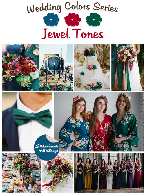 Jewel Tones Wedding Color Palette