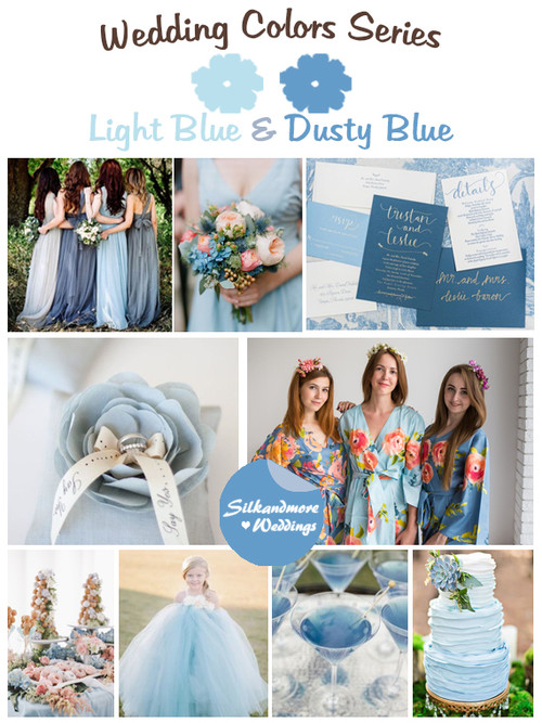 Light Blue and Dusty Blue Wedding Color Palette