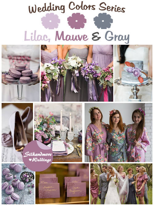 Lilac, Mauve and Gray Wedding Color Palette