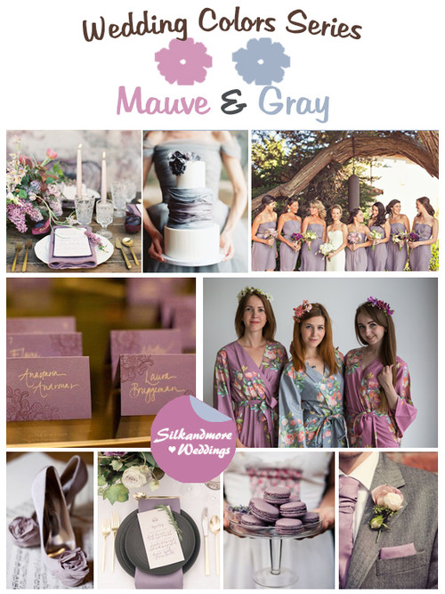 Mauve and Gray Wedding Color Palette