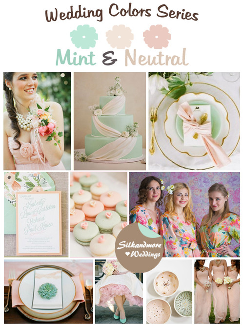 Mint and Neutral Wedding Color Palette
