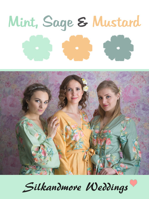 Mint, Sage and Mustard Color Robes - Premium Rayon Collection