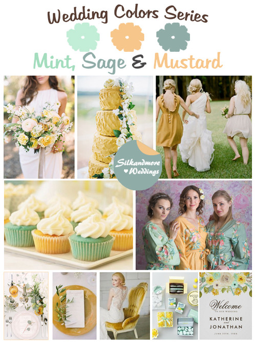Mint, Sage and Mustard Wedding Color Palette