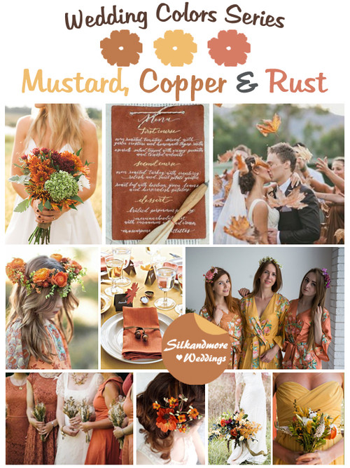 Mustard, Copper and Rust Wedding Color Palette