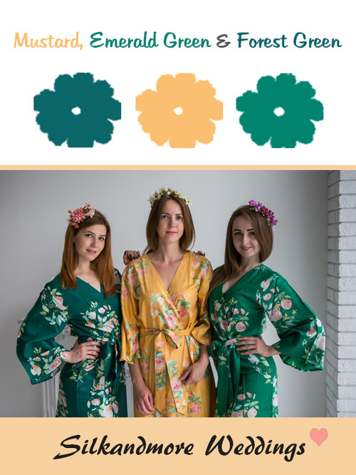 Mustard, Emerald Green and Forest Green Color - Premium Rayon Collection
