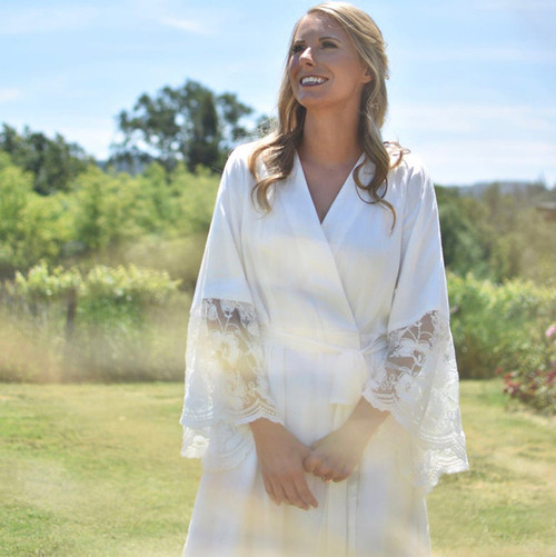 Lace Trimmed Bridal Robe from our Paris Inspirations Collection