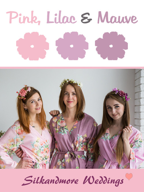Pink, Lilac and Mauve Color Robes - Premium Rayon Collection