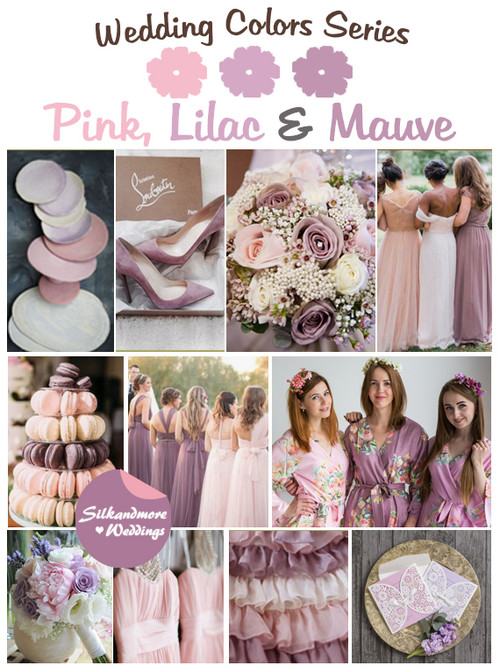Pink, Lilac and Mauve Wedding Color Palette