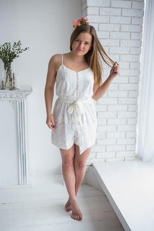 Bridal Romper from my Paris Inspirations Collection - Belted Slip Style Romper
