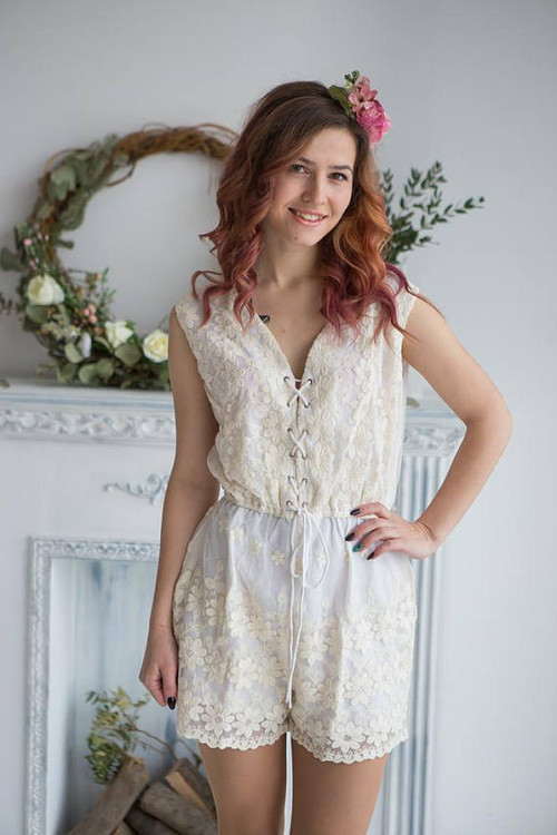 da4818db871a Bridal Lace Romper from my Paris Inspirations Collection - Corset Lace Up  Style Romper