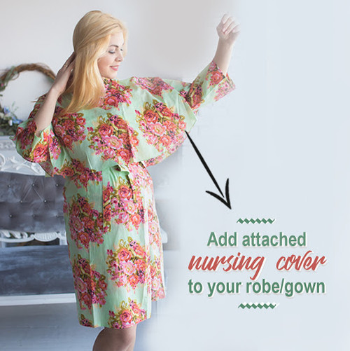 Drape Robe - Add attached nursing cover to the robe of your choice