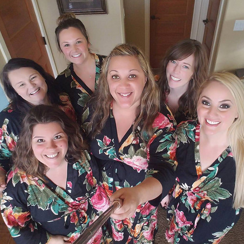 Black Large Floral Robes - Gift for your girlfriends