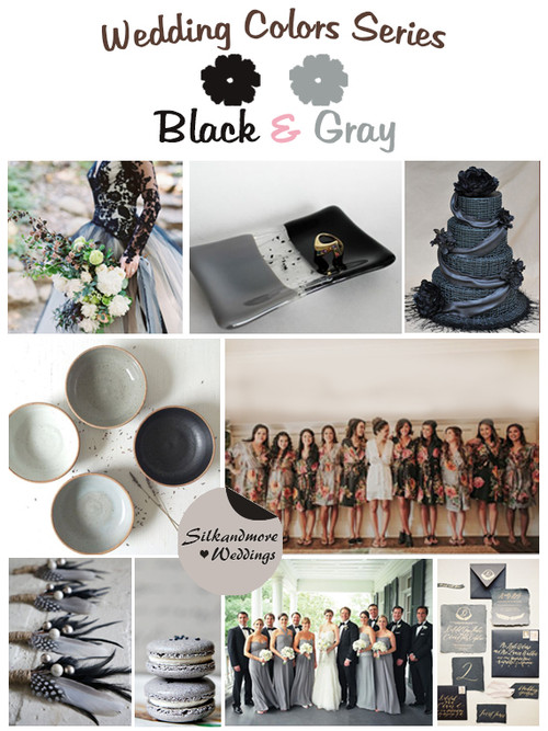 Black and Gray Wedding Colors Wedding Colors Palette
