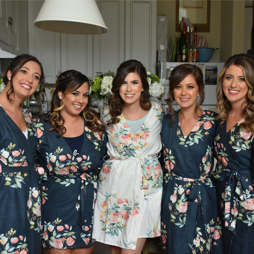 Premium Blueberry Blue Dreamy Angel Song Bridesmaids Robes